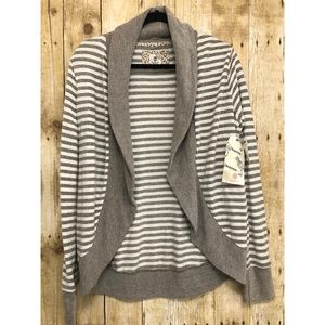 NWT Element striped cardigan sweater